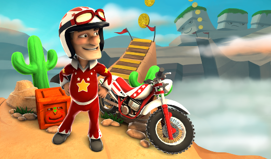 Joe Danger, Joe Danger 2 The Movie somersaulting onto PC