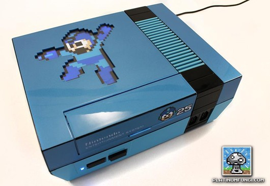 Mega Man 25th anniversary NES is backlit, cool