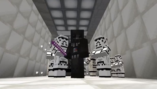 The first 5 minutes of Star Wars recreated in Minecraft
