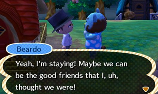 Animal Crossing New Leaf review Beardo's lament