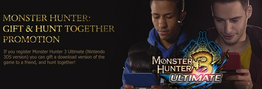 Register Monster Hunter 3 Ultimate in UK, gift a free download to a friend