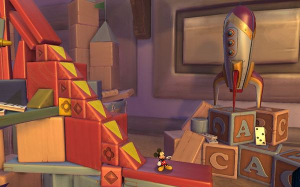 Navigating the Castle of Illusion with a 3D Mickey Mouse