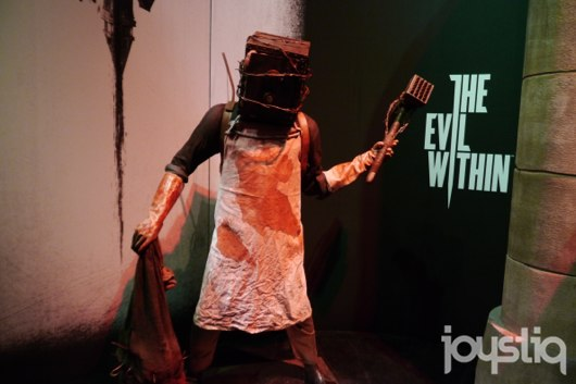 SeenE3 The Evil Within's terrifying blockhead