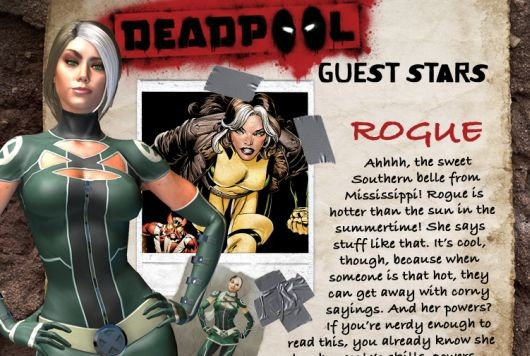 Rogue joins the gallery of heroes in the Deadpool game