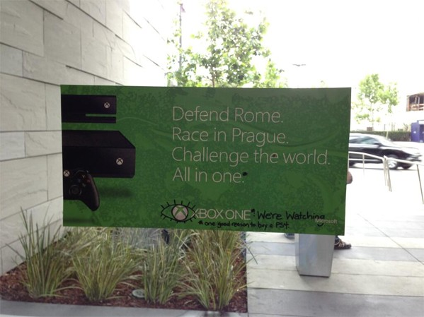 SeenE3 Xbox One signage defaced at E3