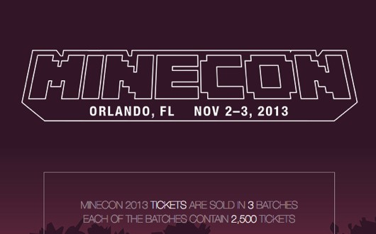 Minecon 2013 tickets on sale tonight