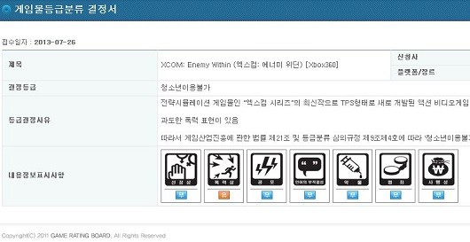 XCOM Enemy Within listed by Korean ratings board