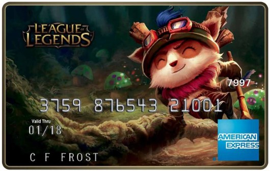American Express rolling out League of Legendsbranded credit cards