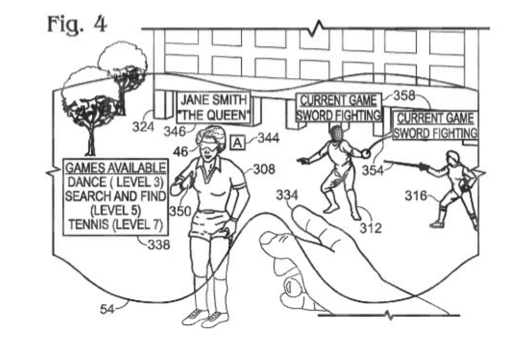 MS patent for AR glasses for multiplayer gaming