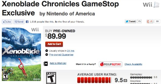 Gamestop defends Xenoblade price tag, Metroid Prime Trilogy on its way