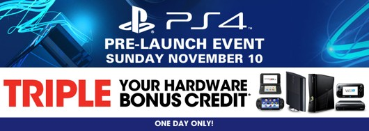 GameStop holding special tradein event for PS4 credit