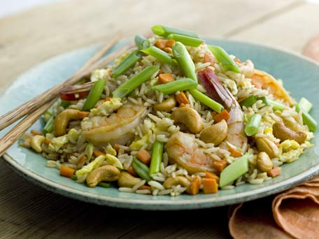 Fried Rice with Shrimp and Cashews