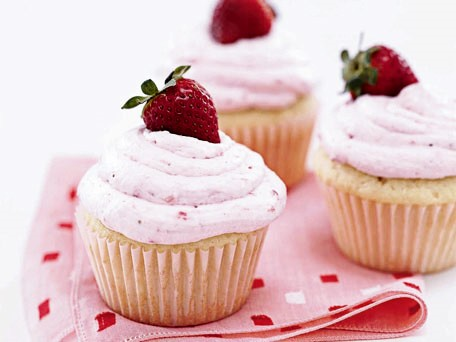 Strawberry Surprise Cupcakes Recipe — Dishmaps