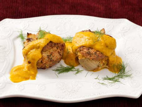 Roasted Fennel Bread Pudding with Yellow-Pepper Coulis for ...