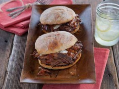 Barbecue Brisket Sandwich with Herb Sour Cream