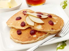 Cranberry Pear Pancakes