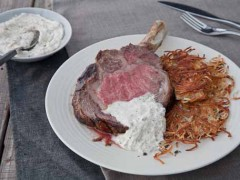 Standing Roast Rib of Beef with Potato Rosti