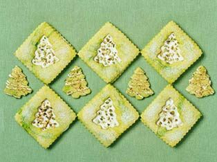 Pistachio Tree Cookies - Christmas Cookie of the Day