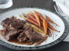 Braised Short Ribs with Honey Roasted Carrots