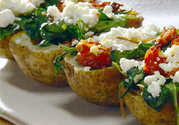 Less-Guilt Potato Skins