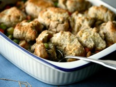 healthy chicken with biscuits