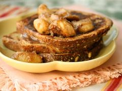 French Toast with Caramelized Banana and Rum