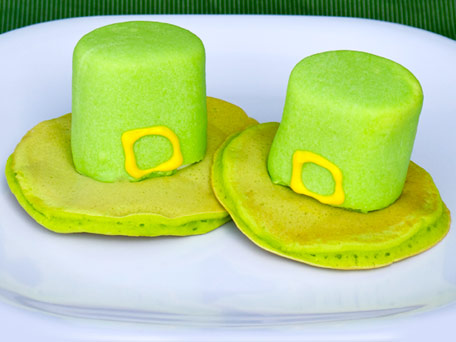 Leprechaun Hat Pancakes -- Food Fun