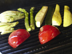 grilling vegetables
