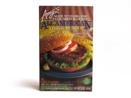 Amy's veggie burger