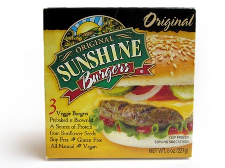 Sunshine veggie burger