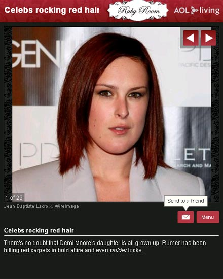 Celebs rocking red hair. Beauty · Celeb · Photo galleries