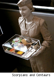 flight attendant hot meal
