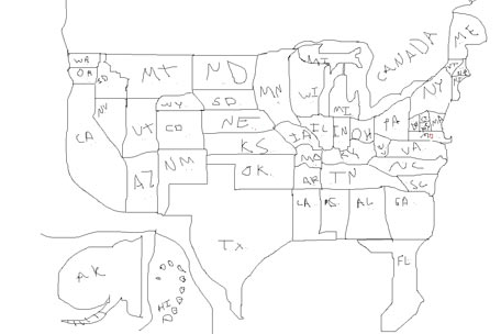 Al Franken Draws US Map Draws Competition Forums Forums Off - Al franken draws us map