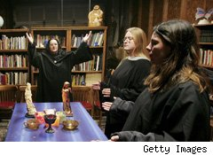 Apparently, there is a growing trend of paganism, especially Wicca, ...