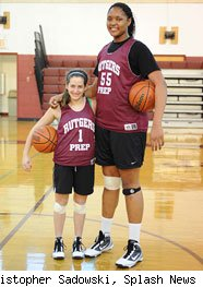 Marvadene Anderson, world's tallest teen