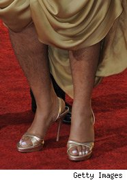 Mo'nique shows off her hairy legs at the SAG awards