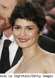 Audrey Tautou's adorable pixie cut