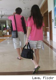 Couples in East Asia wear matching outfits