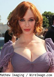 Women hit on Christina Hendricks all the time.