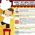 secret fast food menus