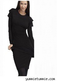 slimming black dress