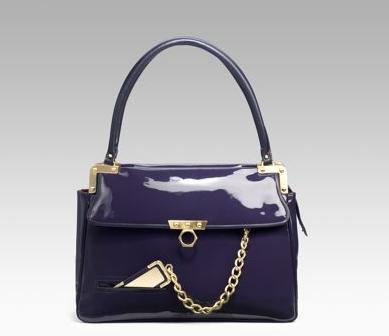 patent leather handbag