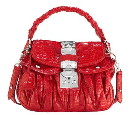 Hand Bags on Miu Miu Red Croc Matelasse Hobo  Handbag Of The Day