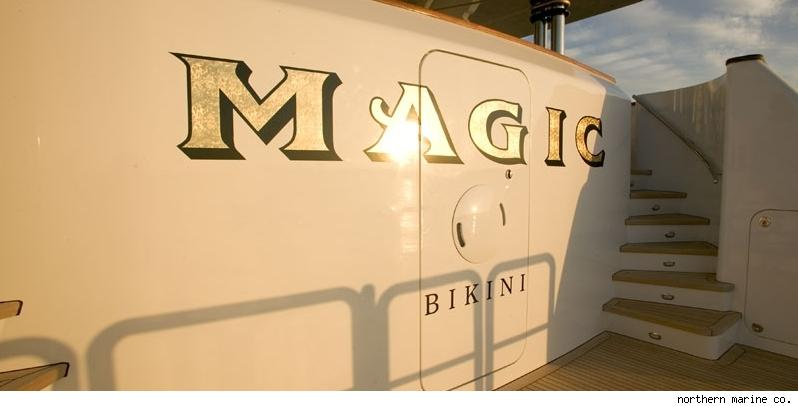 Handsomely-painted 'Magic' name