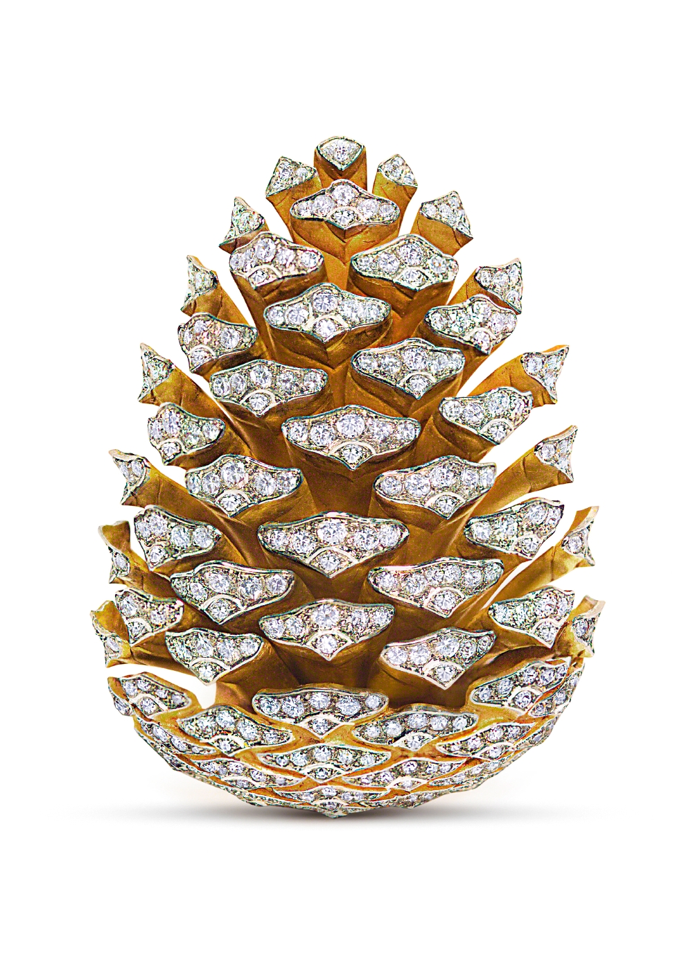 Pinecone brooch