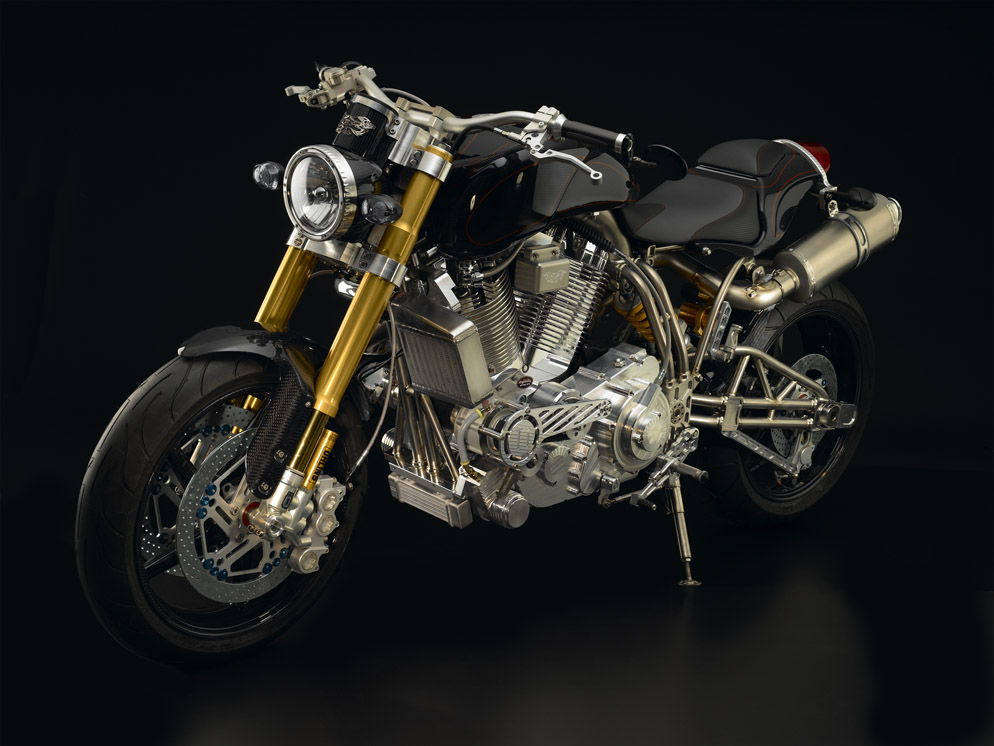 ECOSSE Moto Works' Robb Report Limited Edition Titanium Series Motorcycle and Timepiece