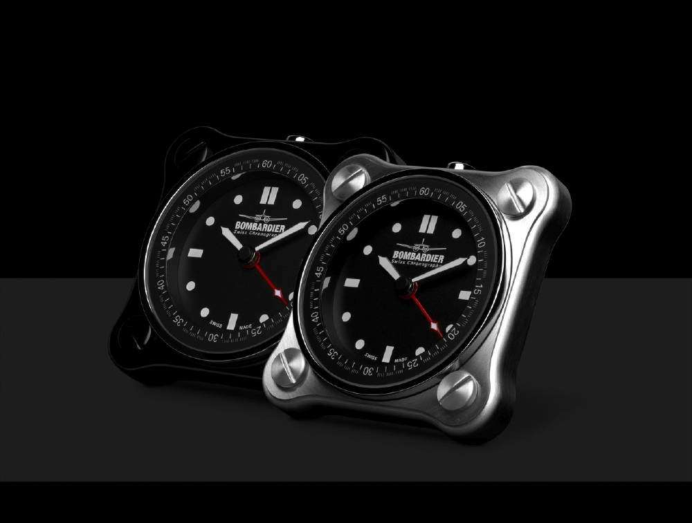 Bombardier Table Clocks