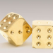 Brass and Chrome Dice