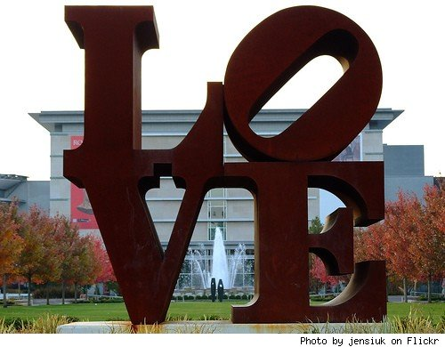 The LOVE Sculpture, Indiananapolis Museum of Art