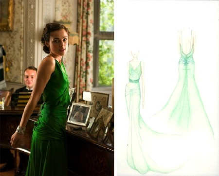 keira knightley in atonement green. worn by Keira Knightley in